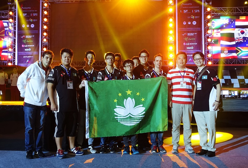 The Macau SAR eSports team and support crew at the World Championship in Jakarta