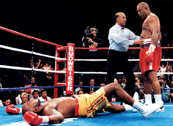 Foreman became the oldest World Heavyweight Champion in history when he knocked out Michael Moorer in 1994