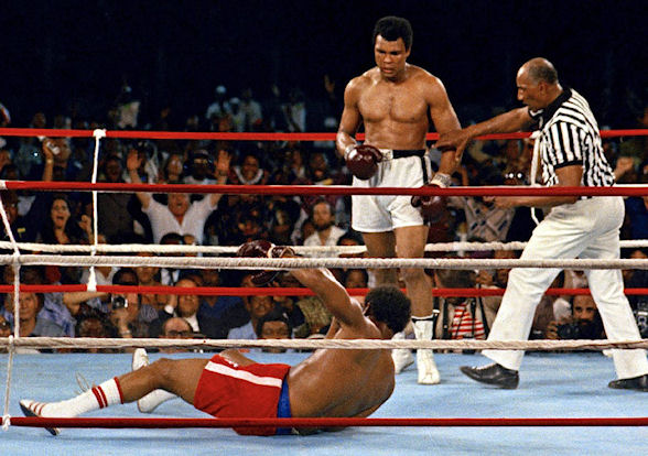"""Foreman believes his loss to  Muhammad Ali in their """"Rumble in the Jungle"""" in 1974 was the only fight he genuinely lost"""