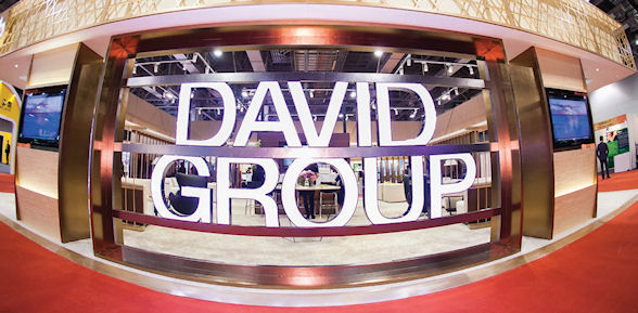 David Group's stand at the show was more like a well furnished office than a temporary show stand