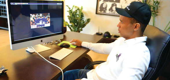 As well as playing poker offline, Phil is one of the world's biggest online poker players.