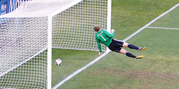 Frank Lampard's strike for England at the 2010 World Cup was ruled no goal by the referee despite video replays showing the ball clearly crossed the line
