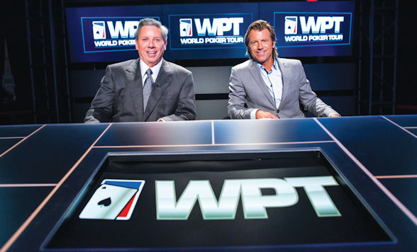 Mike Sexton with his WPT co-commentator Vince Van Patten