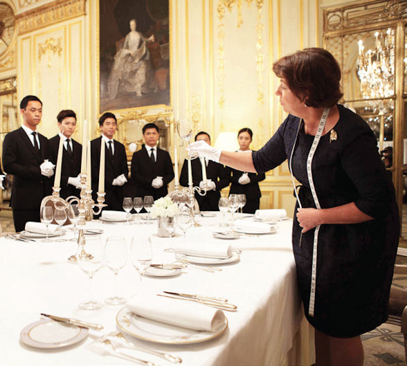 [b]Louis XIII sent its butlers on a special training course at the world famous MCM Palace Consultants in Paris[/b]