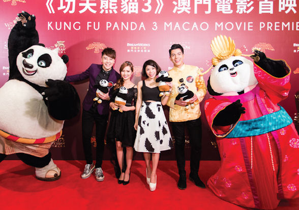 [b]Hyper Lo, Cherry Ho, Vivian Lo and German Ko alongside characters from the movie[/b]
