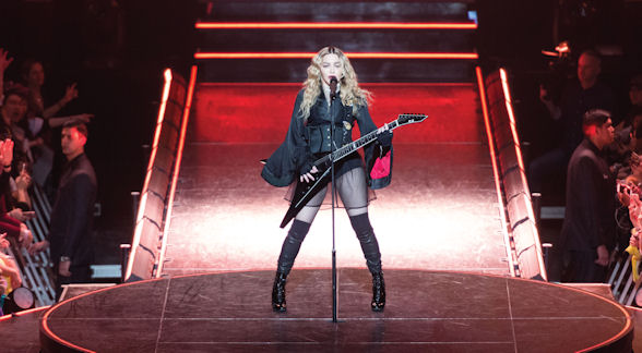 [b]Madonna put on a dazzling show as she performed her biggest hits in an array of costumes[/b]